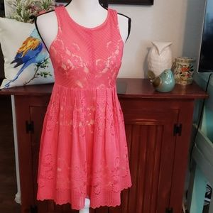 Free People Coral Dress Size 4